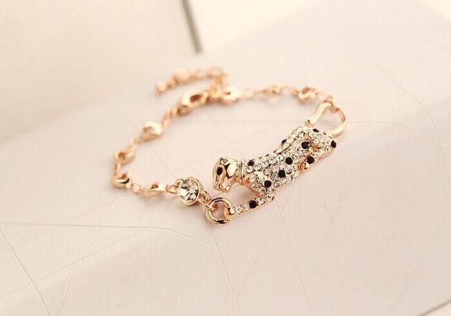 Strass animal do leopardo pulseira coreano jóias de luxo atacado/pulseras mujer/pulseira feminina/brazalete/bilezik/bracciale