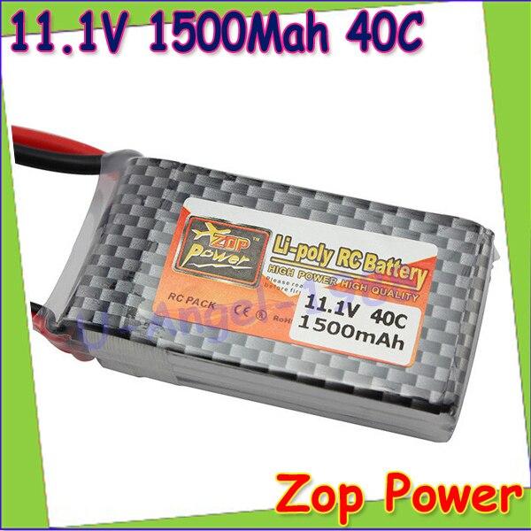1pcs Original ZOP Power LiPo Battery 11.1V 1500Mah 3S 40C MAX 60C T Plug For RC Car Airplane Helicopter Drop Free shipping стоимость