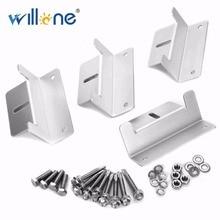 Willone Free Shipping 1 set 4x Metal Solar Panel Mounting Bracket Set Z-shaped Aluminum Roof Bracket Carvan