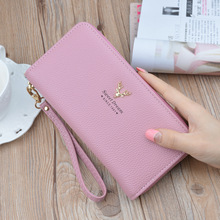цены 2019 Latest Women Long Wallet Large Capacity Clutch Purse Fashion PU Leather Zipper change purse Card Holder Cell Phone Pocket