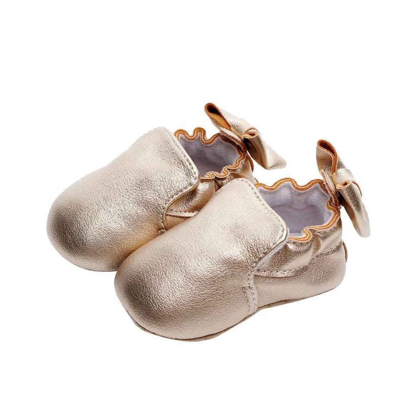 PU Leather Baby Shoes Bowknot Baby Moccasins Newborn Shoes Soft Infants Crib Sneakers First Walker