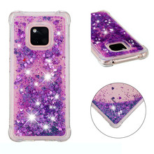 for Huawei Mate 20 Lite case Back cover Bling Glitter Dynamic Quicksand Liquid Case Pro coque