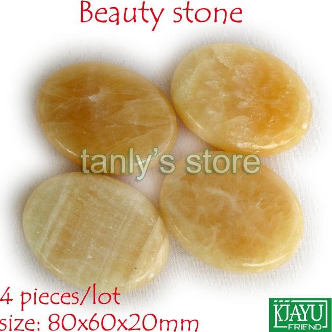Free shipping! Hot Stone Therapy Power Stone Rock stone massage body stone/gong jade 80x60x20mm 4pcs/lot stone
