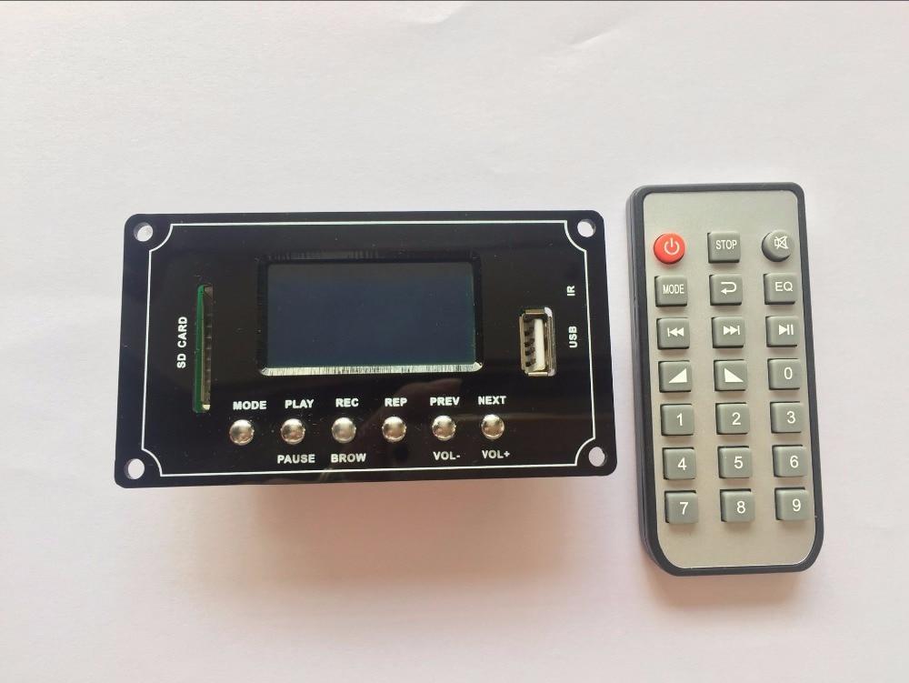 Bluetooth Mp3 Decodierung Bord Modul 12 V Mp3/wav/wma/flac Texte Display Aufnahme Bluetooth Audio Decoder Bord Eleganter Auftritt Mp3-player
