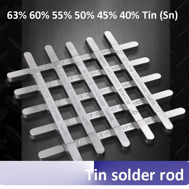 High purity solder rod 63A (63% tin) 500g/pcs low melting point antioxidant super strength 60% 55% 50% 45% 40% Sn  цены