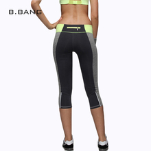 B.BANG Leggings Women Casual Aerobics Leggings Elastic Slim Pants Patchwork Quick Dry Capris Leisure Workout leggings 4 Colors