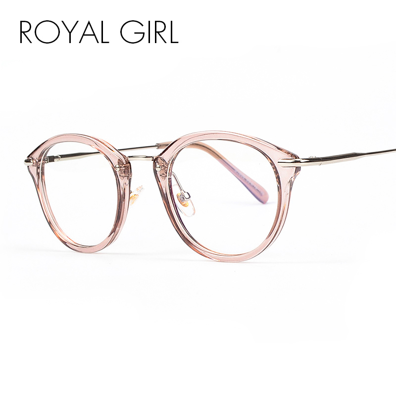 Men's Glasses Lower Price with Fashion Oval Sunglasses Women Eyewear Glasses Korean Style Metal Frame Girls Female Round Clear Lens Accessories Men's Eyewear Frames