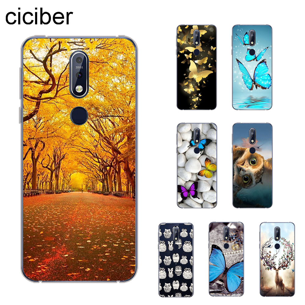 ciciber Butterfly Owl Cover For <font><b>Nokia</b></font> 8.1 7 7.1 6 <font><b>6.1</b></font> 5 5.1 3 3.1 2.1 Plus 9 PureView Phone Cases For <font><b>Nokia</b></font> X7 X6 X5 X3 Soft <font><b>TPU</b></font> image