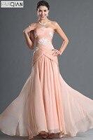 Free Shipping New Arrival Elegant Strapless Criss-Cross Chiffon Evening Dress
