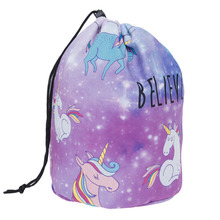 2016 Women Cosmetic Bags & Cases Unicorn Printing Make Up Box Ladies Travel Pouch Kylie Cosmetics Organizer Bucket Bag M0156