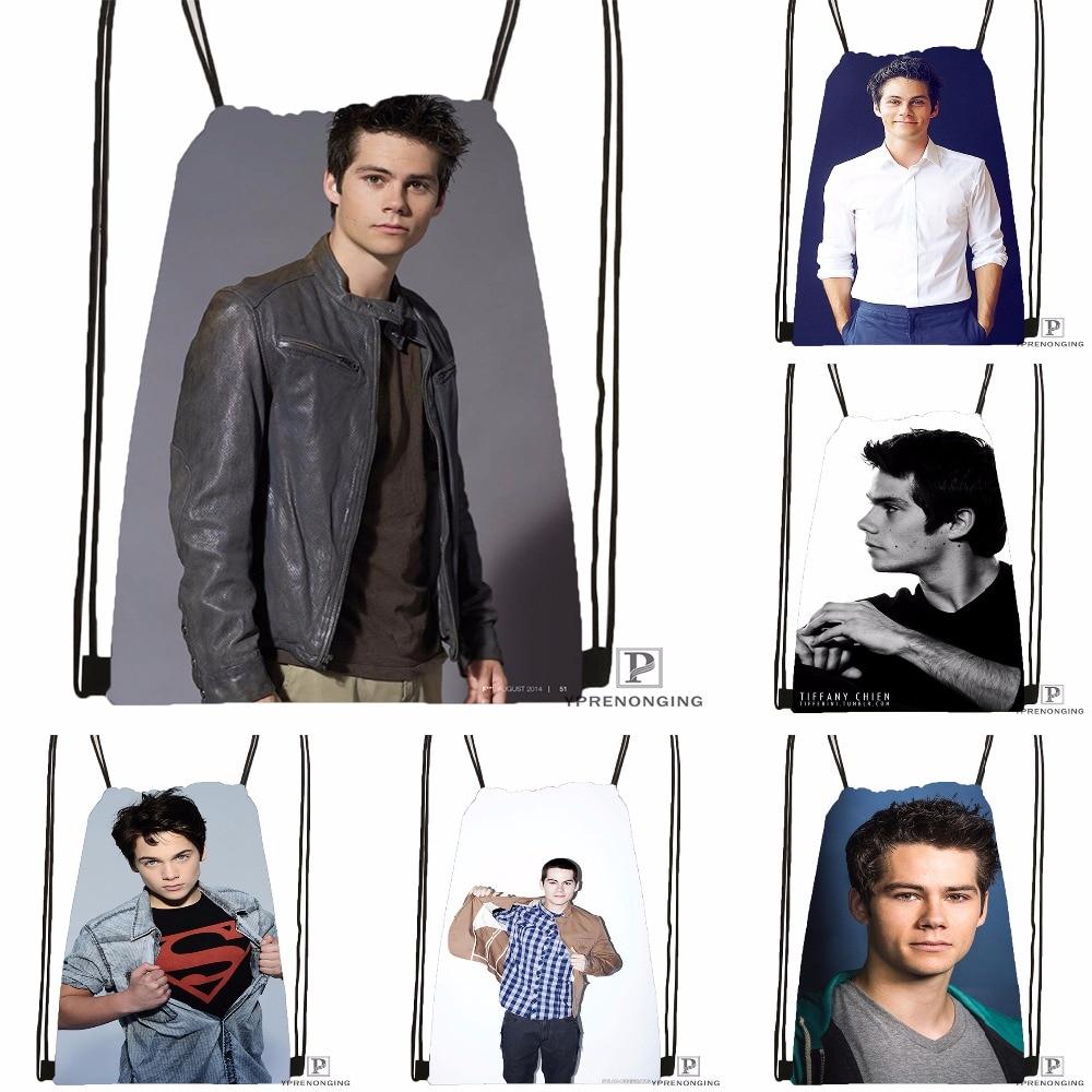Custom Dylan O'brien Drawstring Backpack Bag Cute Daypack Kids Satchel (Black Back) 31x40cm#180531-04-44