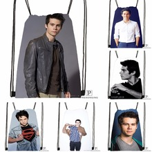 Custom Dylan O'brien Drawstring Backpack Bag Cute Daypack Kids Satchel (Black Back) 31x40cm#180531-04-44