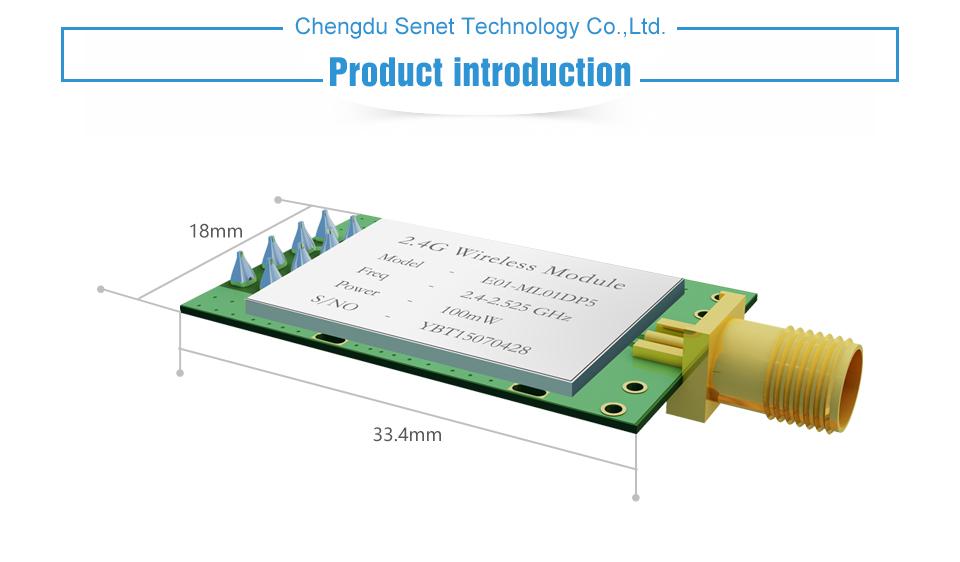E01-ML01DP5 SPI nRF24L01+PA+LAN Module (1)