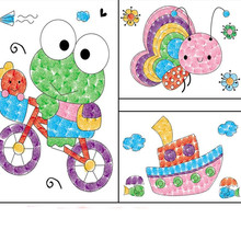 8Pcs Cartoon Kid DIY Finger Painting Craft Set Children Colorful Fingerpaint Drawing Education Learning Picture Toy