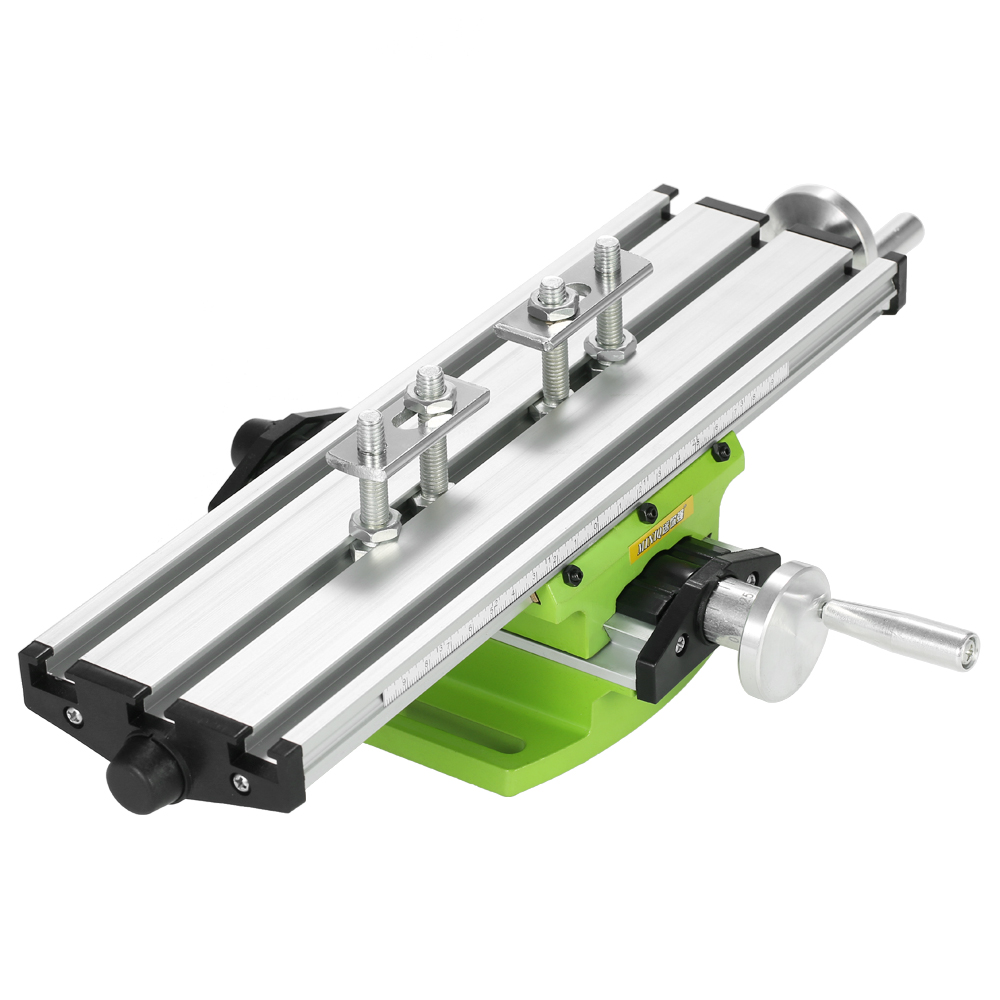 New Compound Bench Drilling Slide Table Worktable Milling Working Cross Table Milling Vise Machine for Bench Drill Stand milling drill press bench 580w stroke 60mm clamping range 1 5 13mm 4000rpm high speed diy drilling mill machine