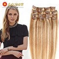 Color 12/613 # Clip in Human Hair Extensions Blonde Human Hair Clip In Extensions 70g-120g Blonde Remy Human Hair Clip In