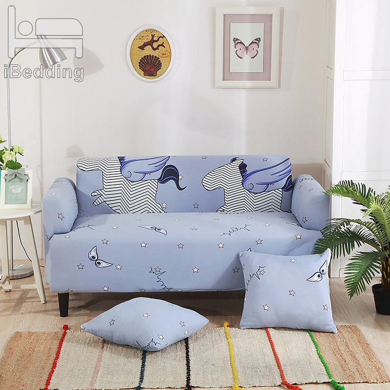 Cute Little Pegasus Elastic Sofa Protector Cover For Living Room Sofa Slipcovers Sectional L