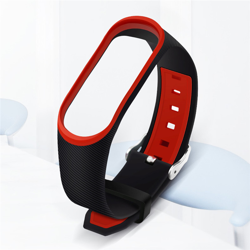 Hard-Working Double Color Twill Strap Anti-lost Silicone Material Environmental Protection Tpu Meter 3 Wristband For Millet Bracelet 3 Modern Design Smart Electronics