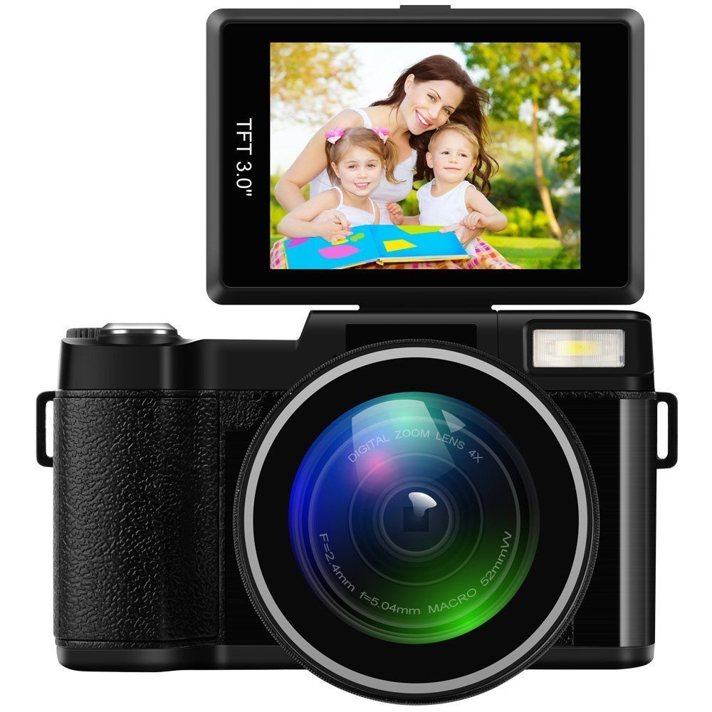 Professional 3.0 Inch Display Screen 4X Zoom Full HD 24MP 1080P Digital Camera Video Camcorder DVR Recorder Support SD Card dc v100 15mp cmos digital camera w 5x optical zoom 4x digital zoom sd slot pink 2 7 tft