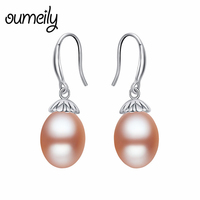 OUMEILY Drop Earrings For Women Party Bridal 925 Silver Earrings Fashion Jewelry Wedding Natural Pearls Vintage