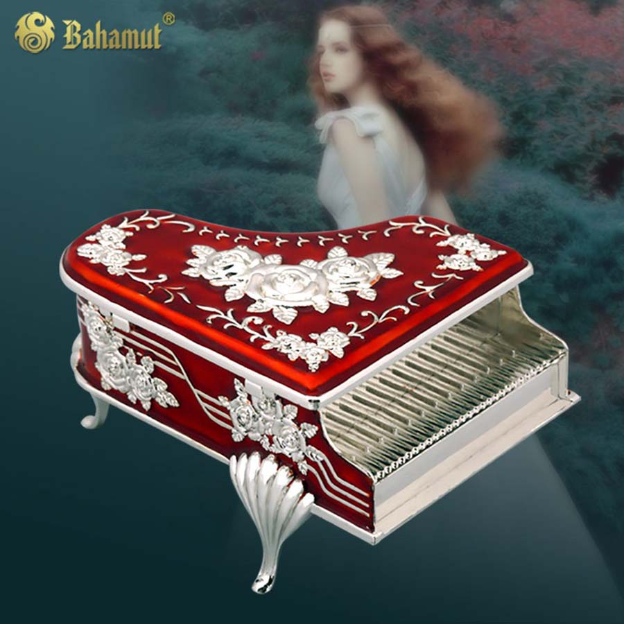 2017 1Pcs Hot Sale Jewelry Piano Packaging Ring Earring Pendant Neckl Fashion Jewelry Box Metal Trinket Boxes Romantic Gifts