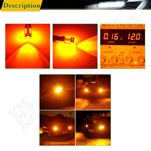 Image 5 - 2 x BA9S T4W BAX9S H6W BAY9S H21W XBD שבבי 80W האוטומטי LED החלפת הנורה עבור רכב מחוון הפעל אות אור מנורת אמבר 12V 24V
