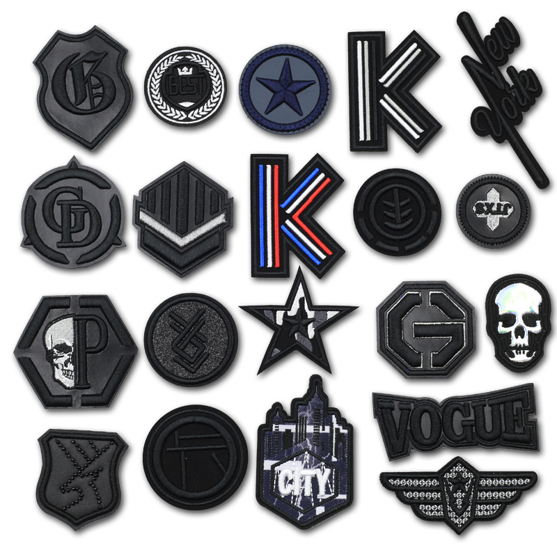 3D Leather Skull Black Sewing Embroidery Patches for Clothing Biker Decorative Clothes Patch Applique Sew on Applications JODc zapatillas de moda 2019 hombre