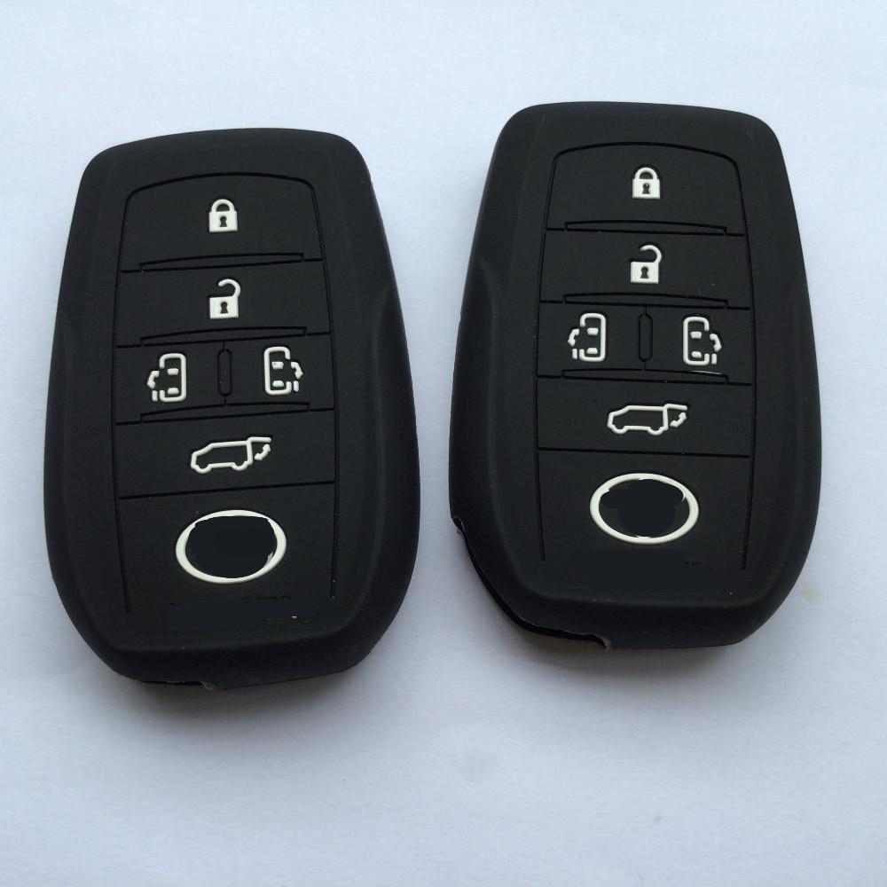 For TOYOTA Sienna Alphard Previa RAV4 Highlander Fortuner 5 Button Silikon Key Cover Shell.Silicone Case For Toyota Key