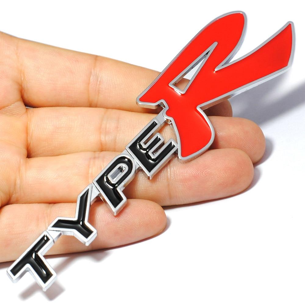 Logo honda rouge - Car Styling 3d Typer Type R Racing Letter Logo Emblem Badge Decal Sticker For Honda Kia