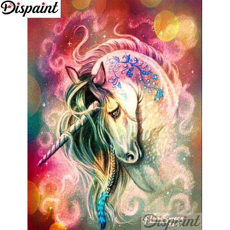 Full Drill Dual Unicorn 5D Diamond Paint Embroidery Cross Stitch Kit Popular