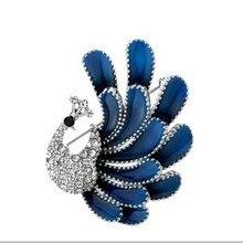 Women Fashion Jewelry 4 Color Peacock Multi-select Alloy Brooch
