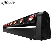 4 개/몫 LED 바 8x12W RGBW 리어 빔 이동 헤드 라이트 워시 무대 조명 디스코 DJ 음악 파티 클럽 댄스 플로어 바