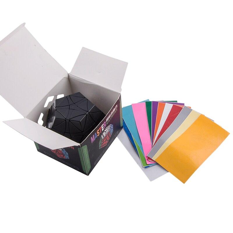 YKLWorld Noir Hélicoptère Dodécaèdre Gigaminx Magic Cube DIY Autocollants Puzzle Vitesse Cubes Jouets Éducatifs Pour Enfants (W0 - 6