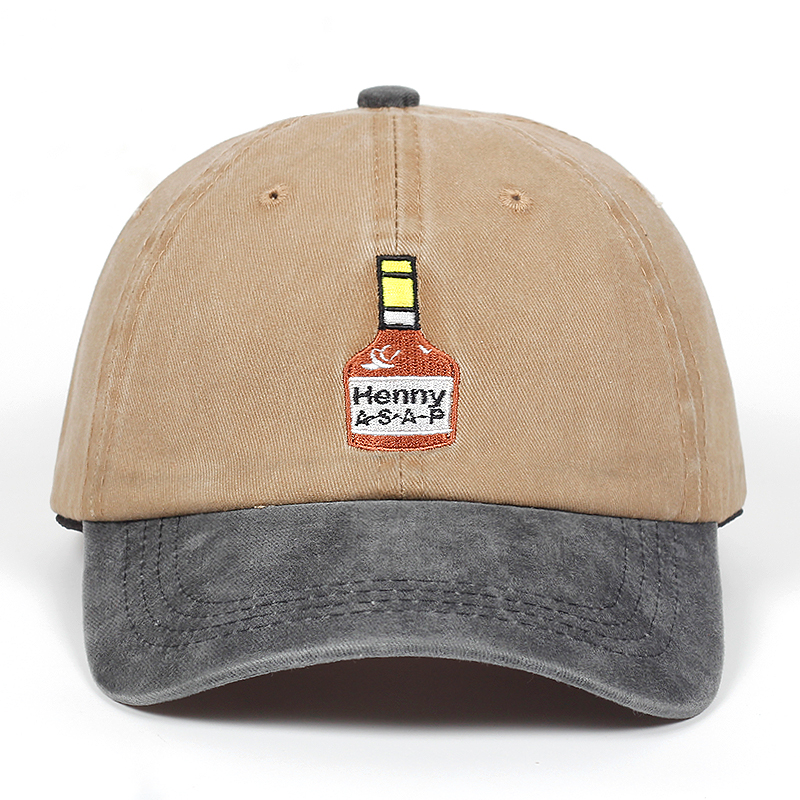 Washed Henny ASAP   Baseball     Cap   Embroidery For Men Women Brand dad hat Cotton% Hip Hop snapback   cap   golf hats Bone Garros