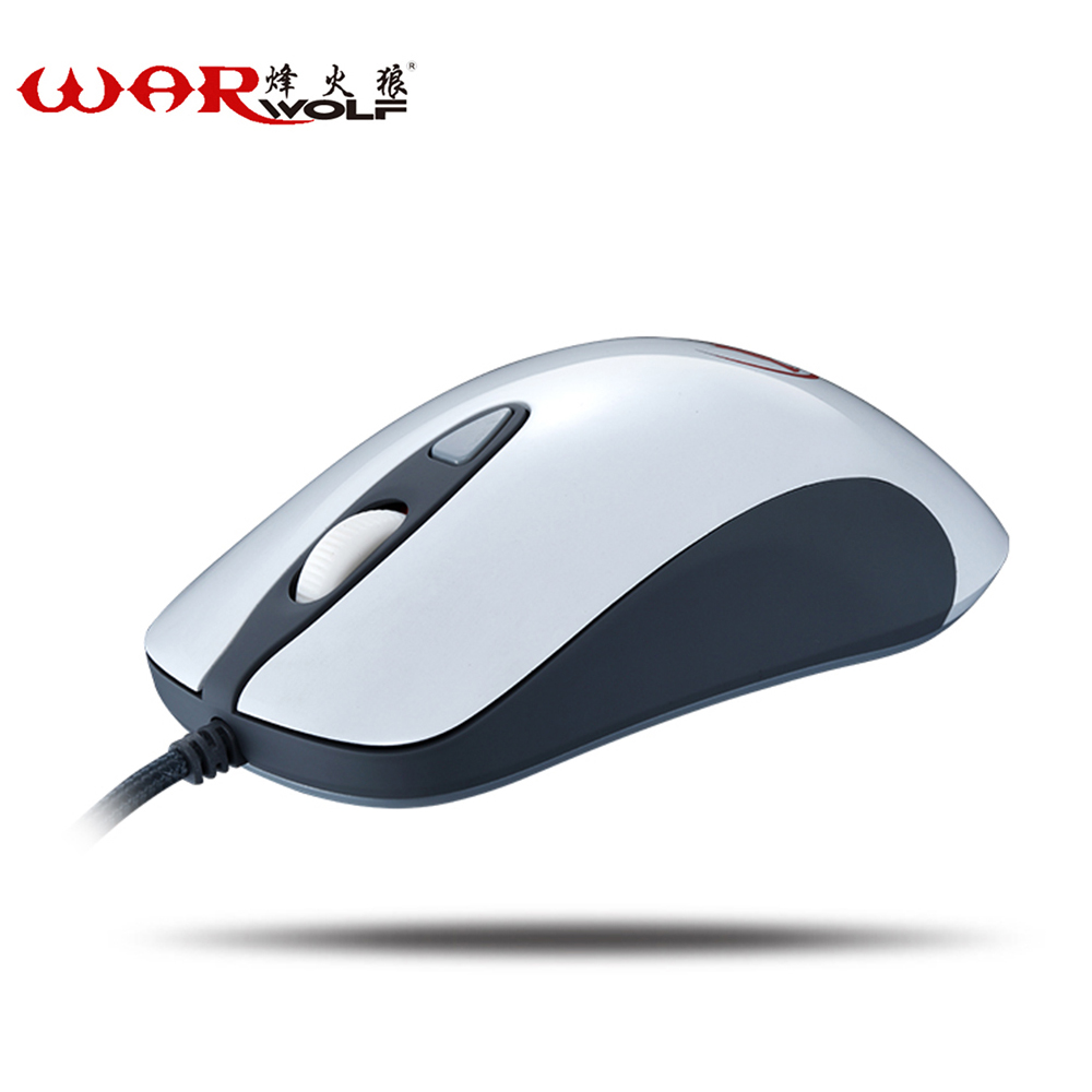 WarWolf Professional 2400 DPI 4 Buttons 4D USB Optical Wired Gaming Mouse Mice Computer Mouse Mice For Gamer Lovers