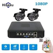 Система AHD CCTV 1080 P Камера 4CH Регистраторы 1080N 2 шт 2MP Cam безопасности набор для наблюдения