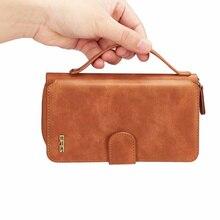 Классическая сумка на молнии 2-в-1 разъем карты бумажник чехол для телефона для iphone XS 7 8 Plus X XS MAX клатч телефон мешок для iphone 8 Plus