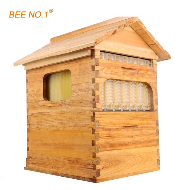 BEE NO.1 Beekeeping Tool Wooden Beehive Langstroth Bee Hive Honey ...