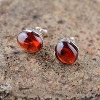 Thai Silver Earrings S925 Sterling Silver Jewelry Inlaid Ruby Red Garnet Stone Woman Net Sales Explosion