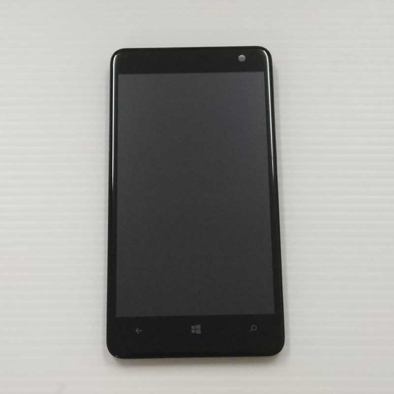 For Nokia Lumia 625 LCD Display Panel Monitor Module + Touch Screen Digitizer Sensor Glass Assembly With Frame