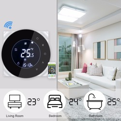 Voice WiFi Control Programmable Thermostat Electric Heating Temperature Controller 95-240V 16A Thermostat WiFi Warm Floor
