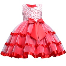 Fashion Flower Girls Wedding Bridesmaid Dresses for Kids Sleeveless Ball Gown Tulle Lace Princess Birthday Party Kids Girl Dress цена в Москве и Питере