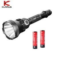 Perfeito KLARUS XT32 CREE XP-L OI V3 1200lm Lanterna LED com 2 pcs 18650 Bateria para a Caça, tênis para caminhada, Camping