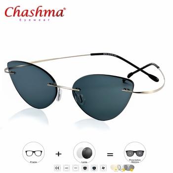 e581dc3a6a Ojo de Gato de transición gafas de sol fotocromáticos gafas de lectura de  las mujeres la hipermetropía la presbicia con dioptrías al aire libre la  presbicia ...