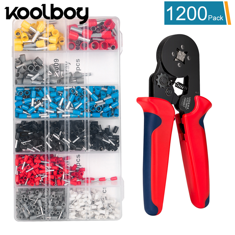 Multifunctional Wire Stripper crimping plier tool +1200 insulated crimp connectors kit DIY projects electrician Repair tool set combination plier electrician repair mini hand home tool kit