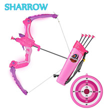1Set Archery Bow Toy Set Kids With 3 Suction Arrows Shooting Game Gift Park Fun Toxophily Children Kids Target Practice Games