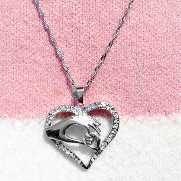 Mother Baby Heart Pendant in Gift With Box Beautiful present for new Mom