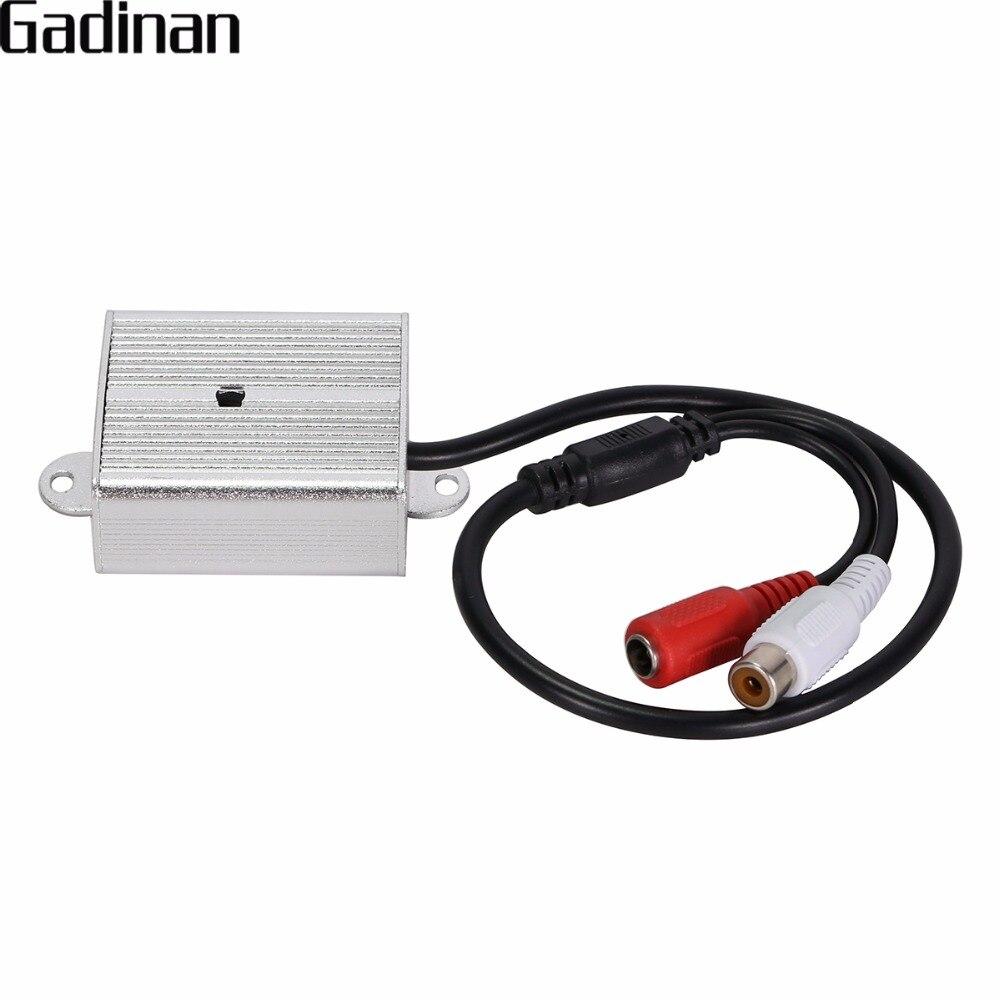 GADINAN Réglable Mini Microphone Ramassage Son Moniteur Surveillance Audio Dispositif De Prise En Métal Pour La Sécurité DVR CCTV Accessoires