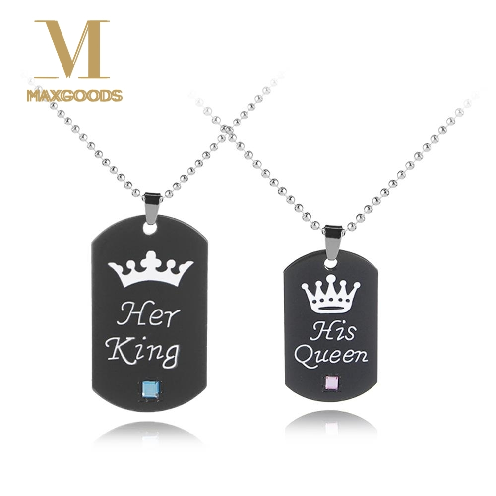 c6a8aa18bc Buy necklace king queen and get free shipping on AliExpress.com