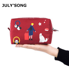 JULYS SONG 2019 Waterproof Travel Cosmetic Bag Portable Makeup Oxford Storage Womans Pouch